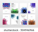 geometric background template... | Shutterstock .eps vector #504946966