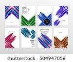 geometric background template... | Shutterstock .eps vector #504947056