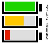 battery level indicator set....
