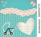vintage newborn card. baby... | Shutterstock .eps vector #504954772