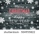 christmas banner with... | Shutterstock .eps vector #504955822