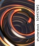 colorful 3d spiral  abstract... | Shutterstock . vector #504957892