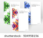geometric background template... | Shutterstock .eps vector #504958156