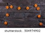 lights for halloween  abstract... | Shutterstock . vector #504974902