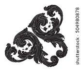 vintage baroque corner scroll... | Shutterstock .eps vector #504980878