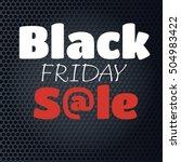 black friday sale inscription... | Shutterstock .eps vector #504983422