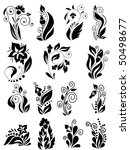 set of floral element | Shutterstock .eps vector #50498677