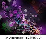 abstract purple floral... | Shutterstock . vector #50498773