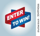 enter to win  arrow tag sign. | Shutterstock .eps vector #504994066