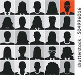 people silhouettes  business... | Shutterstock .eps vector #504996016