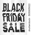 black friday sale glitch art...   Shutterstock . vector #505005022