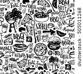 Bbq Barbecue Grill Doodle...