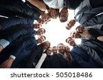 business  people and teamwork... | Shutterstock . vector #505018486