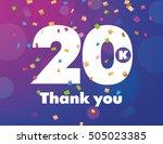 congratulations 20k followers... | Shutterstock .eps vector #505023385