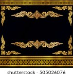 gold photo frame with corner... | Shutterstock .eps vector #505026076