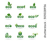 eco friendly organic natural... | Shutterstock .eps vector #505028956
