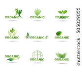 eco friendly organic natural... | Shutterstock .eps vector #505029055