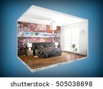 interior without walls. 3d... | Shutterstock . vector #505038898
