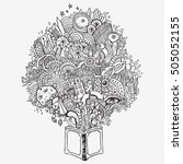 doodle and scribble book... | Shutterstock .eps vector #505052155