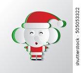 christmas   santa claus... | Shutterstock .eps vector #505053322