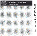 business icon set clean vector | Shutterstock .eps vector #505055602