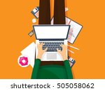 programming and coding... | Shutterstock . vector #505058062