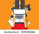 photography equipment with... | Shutterstock . vector #505058086