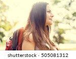 backpacker casual travel...   Shutterstock . vector #505081312