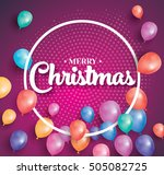 merry christmas. greeting card... | Shutterstock . vector #505082725