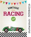 classic vintage racing car... | Shutterstock .eps vector #505084216