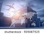 business logistics concept ... | Shutterstock . vector #505087525