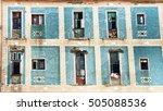 old havana run down building... | Shutterstock . vector #505088536