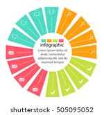pie with petals  infographics... | Shutterstock .eps vector #505095052