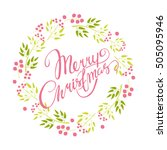 vector card. merry christmas.... | Shutterstock .eps vector #505095946