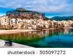 view on habour and old houses... | Shutterstock . vector #505097272