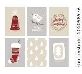 merry christmas card design | Shutterstock .eps vector #505098976