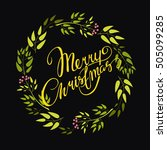 hand lettering. vector card ... | Shutterstock .eps vector #505099285