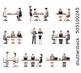 business people meeting... | Shutterstock .eps vector #505100245