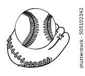 baseball mitt icon image    Shutterstock .eps vector #505102342