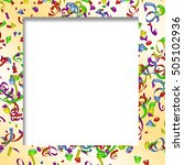 confetti background with copy... | Shutterstock . vector #505102936