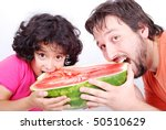 happy father and his girl | Shutterstock . vector #50510629
