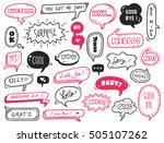 set of cute speech bubble with... | Shutterstock .eps vector #505107262