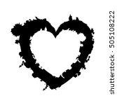 embellished heart cartoon icon... | Shutterstock .eps vector #505108222
