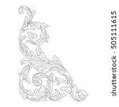 vintage baroque corner scroll... | Shutterstock .eps vector #505111615