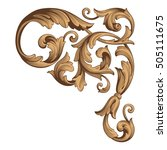 vintage baroque corner scroll... | Shutterstock .eps vector #505111675