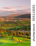 sedbergh is a small town and...   Shutterstock . vector #505113052