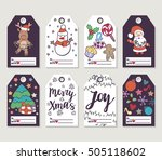 christmas and new year gift... | Shutterstock .eps vector #505118602