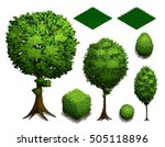 set of isometric trees.... | Shutterstock .eps vector #505118896