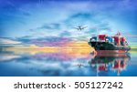 logistics and transportation of ... | Shutterstock . vector #505127242