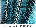 double exposure photo of office ... | Shutterstock . vector #505134586